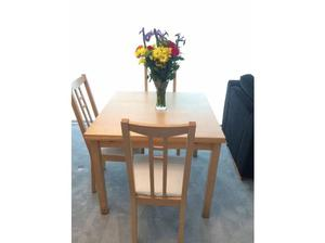 Ikea Extendable Dining Table + 3 Ikea Dining Chairs in