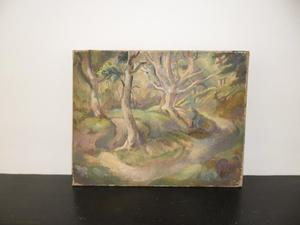 Landscape featuring Trees - oil on canvas - c.s