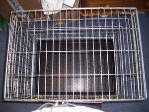 Large Double Door Dog Cage 60 cm high x 53 cm wide x 77 long