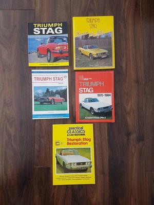 Triumph Stag Books set of 5