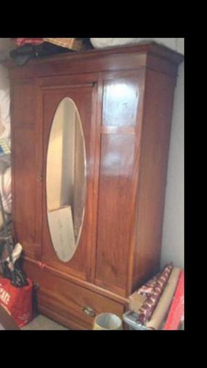 Wardrobe vintage style comes in 3 bits nice looking cheap to clear funds towards daughters nursery