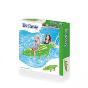 "BESTWAY 80"" RIDE ON CROCODILE - INFLATABLE POOL BEACH"