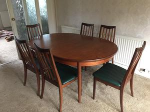 G-Plan Teak Dining Room Furniture, comprising Extending Table, Six Chairs and Sideboard