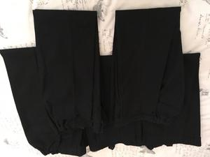Marks and Spencer's girls black school trousers 5 pairs aged