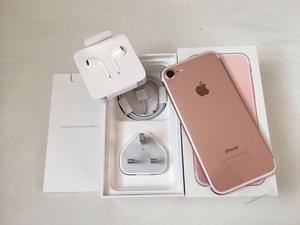 Phone 7 32GB Rose Gold brand new in box Factory Unlocked Sim-free with warranty proof of receipt