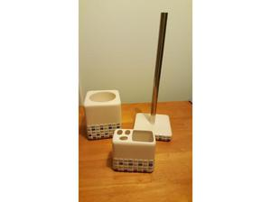 Toilet roll and brush holder, toothbrush holder in Weston