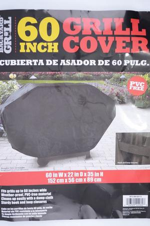 "Backyard Grill 60"" Tear Proof Grill Cover 60 W x 22 Hook &"