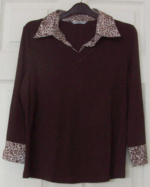 GORGEOUS LADIES BROWN TOP BY MARKS & SPENCER - SZ 14 B4