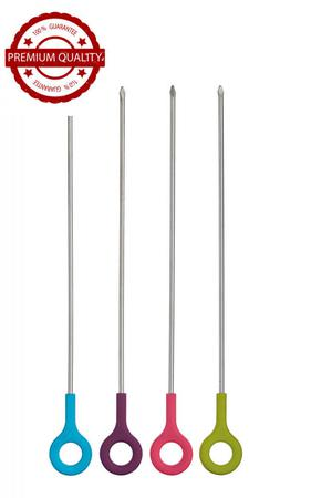 "KitchenCraft Colourworks Barbecue Skewers, 30 cm (12"") -"