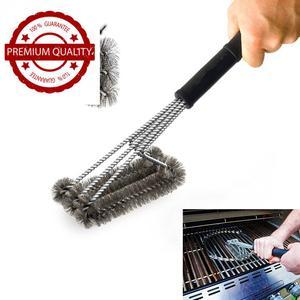 "Kunmuzi 18"" Triangle Metal BBQ Grill Cleaning Brush, Heavy"