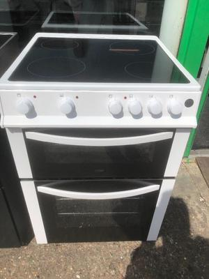 LOGIK 60CM CEROMIC TOP ELECTRIC COOKER IN WHITE