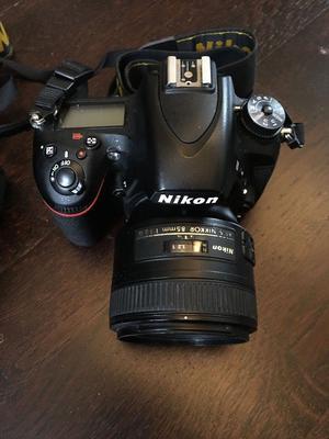 Nikon D750 two bodies plus three lenses