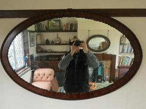Oval Mirror Edwardian, mahogany