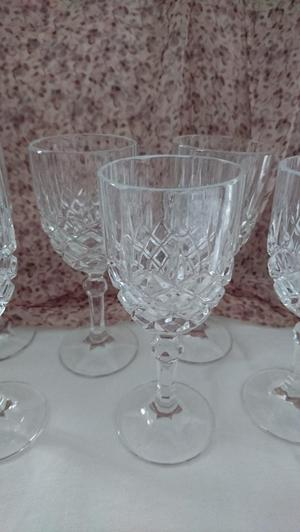 Set of 6 Crystal Glasses