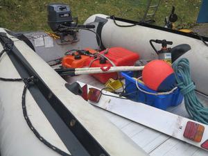 Yamaha Inflatable RIB m), with Trailer and Yamaha 20hp Outboard
