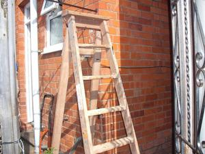 Large Vintage Wooden Step Ladder (good condition)