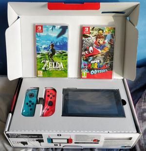 Nintendo Switch 32GB Grey Console (Neon Red/Neon Blue) w.