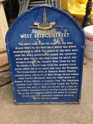 Vintage cast iron Falkirk sign