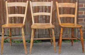 2 x Vintage Bar Back Chairs