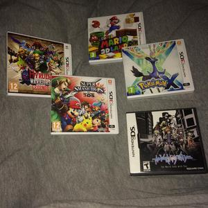 4 3ds games + 1 Ds game