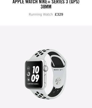 Apple watch Nike +series 3 (GPS) 38MM