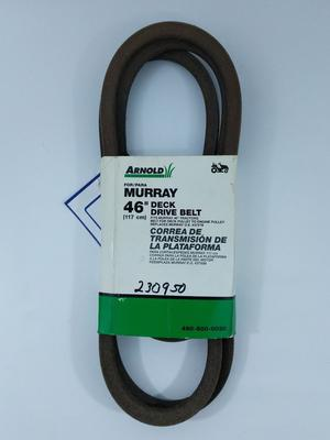 "Arnold 46"" Deck Drive Belt for MURRAY Tractor Replaces"