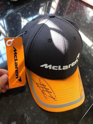 Genuine authentic  McLaren team, singed new era cap