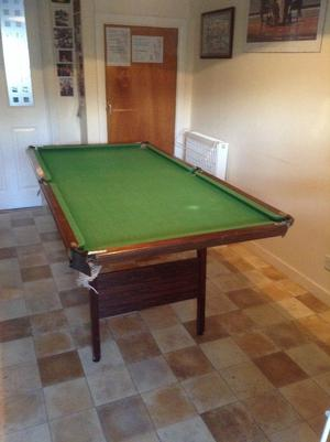 Pool Table with folding legs. Quarter size. Free. Collection only.