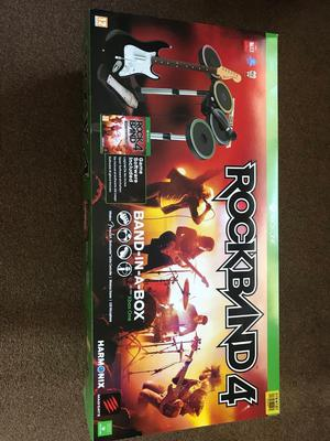 Rock band 4 Xbox one band in a box