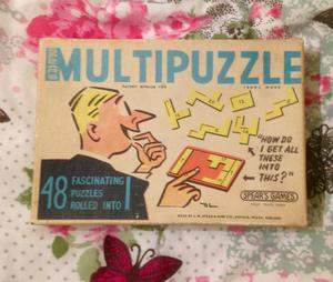Vintage Spear's Multipuzzle  with Instruction Book Of 48 Puzzles. Complete.