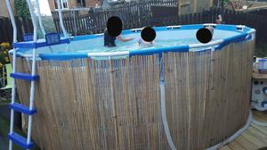 large swimming pool with heater