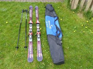 For Sale Carving Skis with Salomon Bindings, Poles and Ski Bag £40 ono