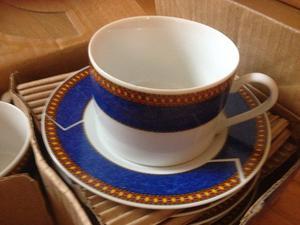 12 piece fine porcelain cups/saucers (colazione service)