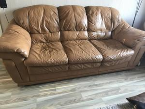 3seater Italian leather settee and chair