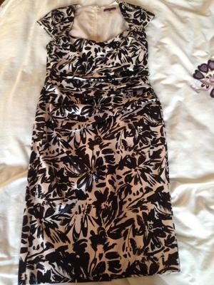 Brand new Debenhams Debut black and cream floral print dress £50 ono