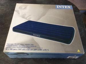 Intex Classic Downy Twin Size Inflatable Mattress/Bed