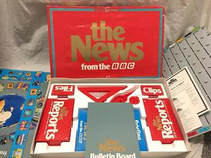 NEWS FROM THE BBC VINTAGE BOARD GAME STILL IN BOX by MATTEL GAMES in