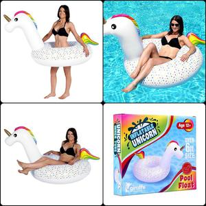 Unicorn Inflatable Swimming Pool Float Lake Beach Outing