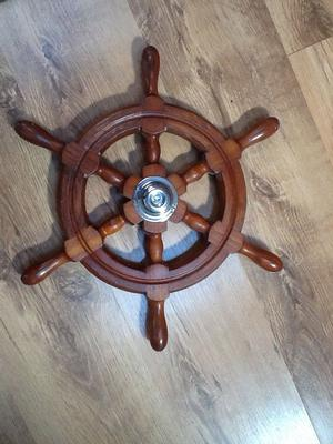 Vintage 6 Spoke Boat/Cruiser Wooden Steering Wheel