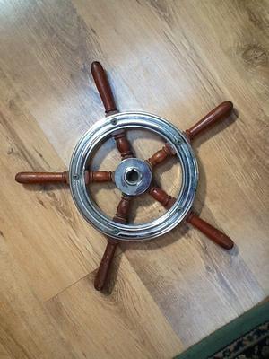 Vintage Five Spoke Boat/Cruiser Steering Wheel