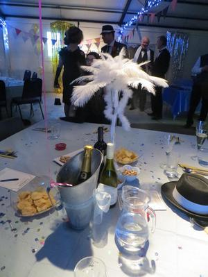 Wedding or s ostrich feather table decorations