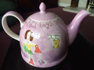 Beth for Whittatd of Chelsea hand painted Tea Pot.