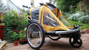 Childrens/Pet Bike Trailer with stroller kit.