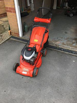 Flymo lawnmower power drive petrol with electric start