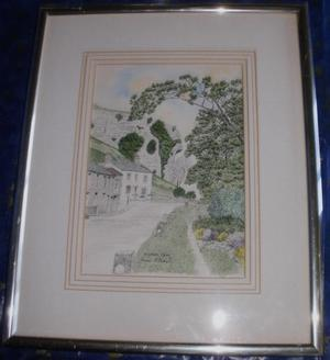 Framed Print of Kilnsey Crag by James Gibson 35cm x 43 cm