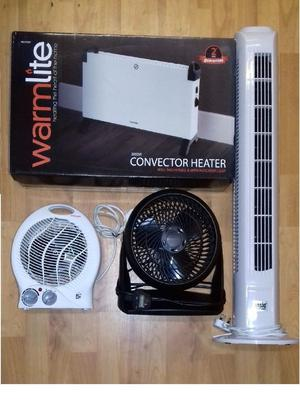 """Great Condition""_(£60) 3 Cooler (Honeywell + Ansio Home) + 2 heaters ""Brand new"""