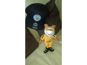 Leicester City baseball cap and fox mascot furry toy in