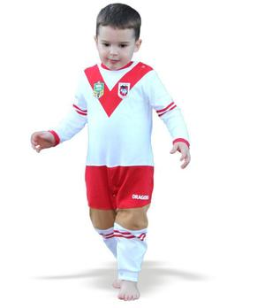 NRL St George Baby Footysuit Sizes