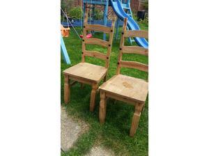 Set of 4 oak dining chairs in Havant