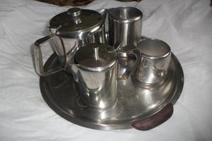 Stainless steel teaset